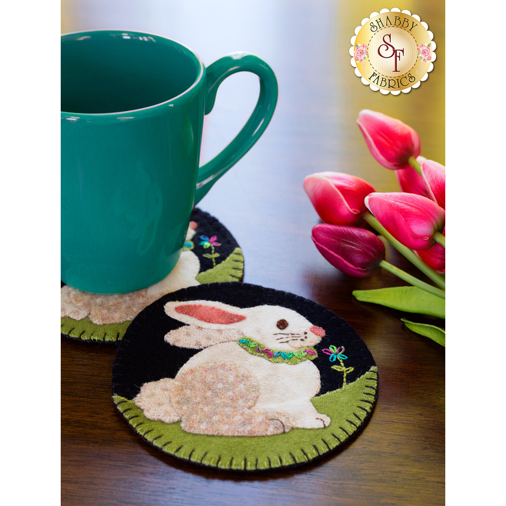 Wooly Mug Rug Series - April - Kit (makes 2)