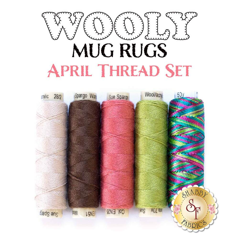Wooly Mug Rug Series - April - 5pc Thread Set