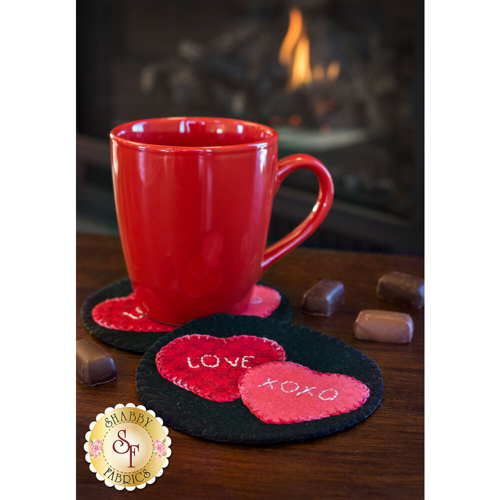 Wooly Mug Rug Series - February - Kit (makes 2)