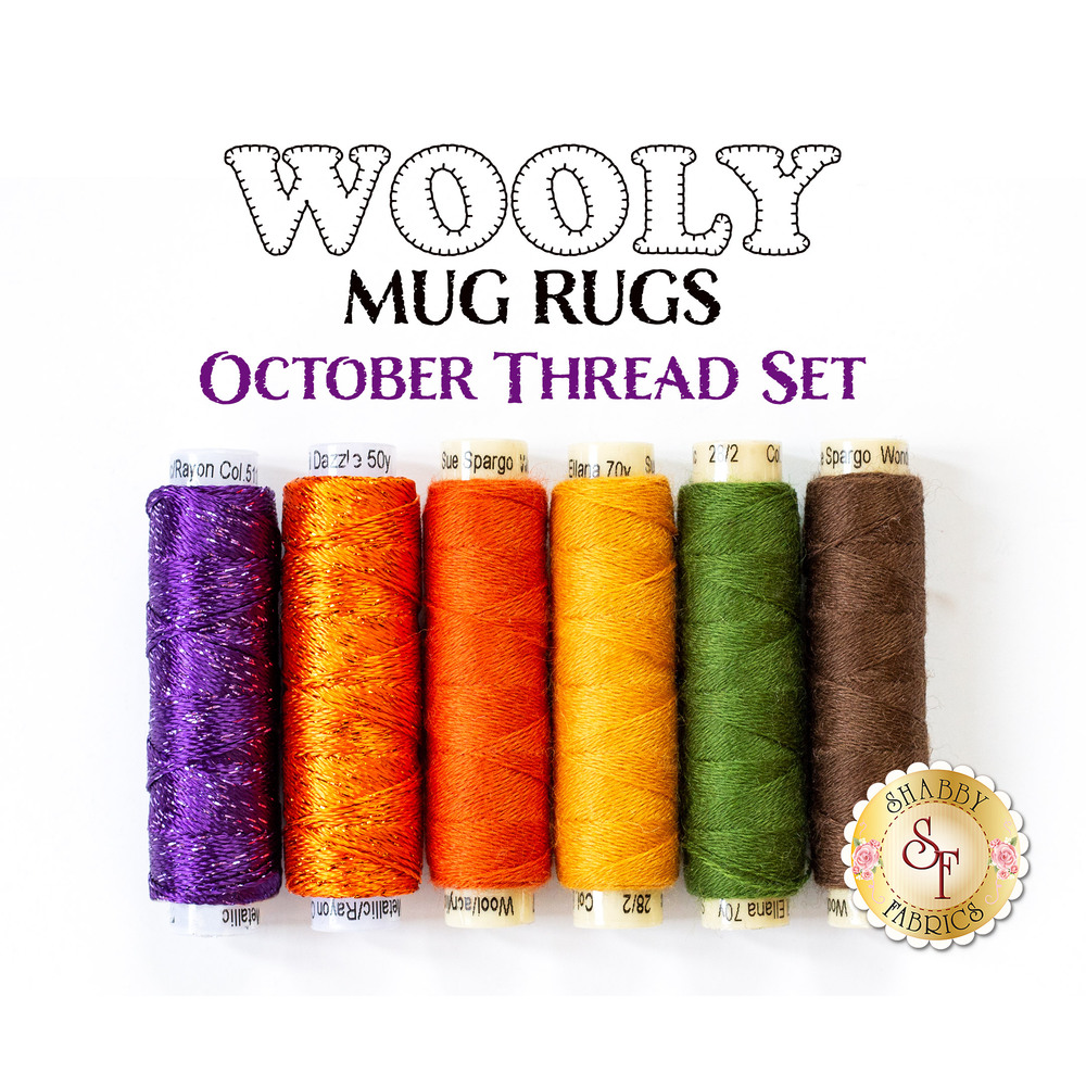 Wooly Mug Rug Series - October - 6 pc Thread Set