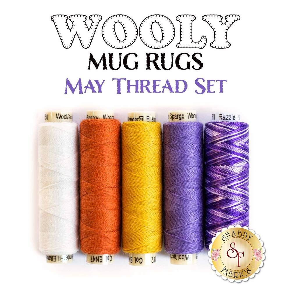 Wooly Mug Rug Series - May - 5 pc Thread Set