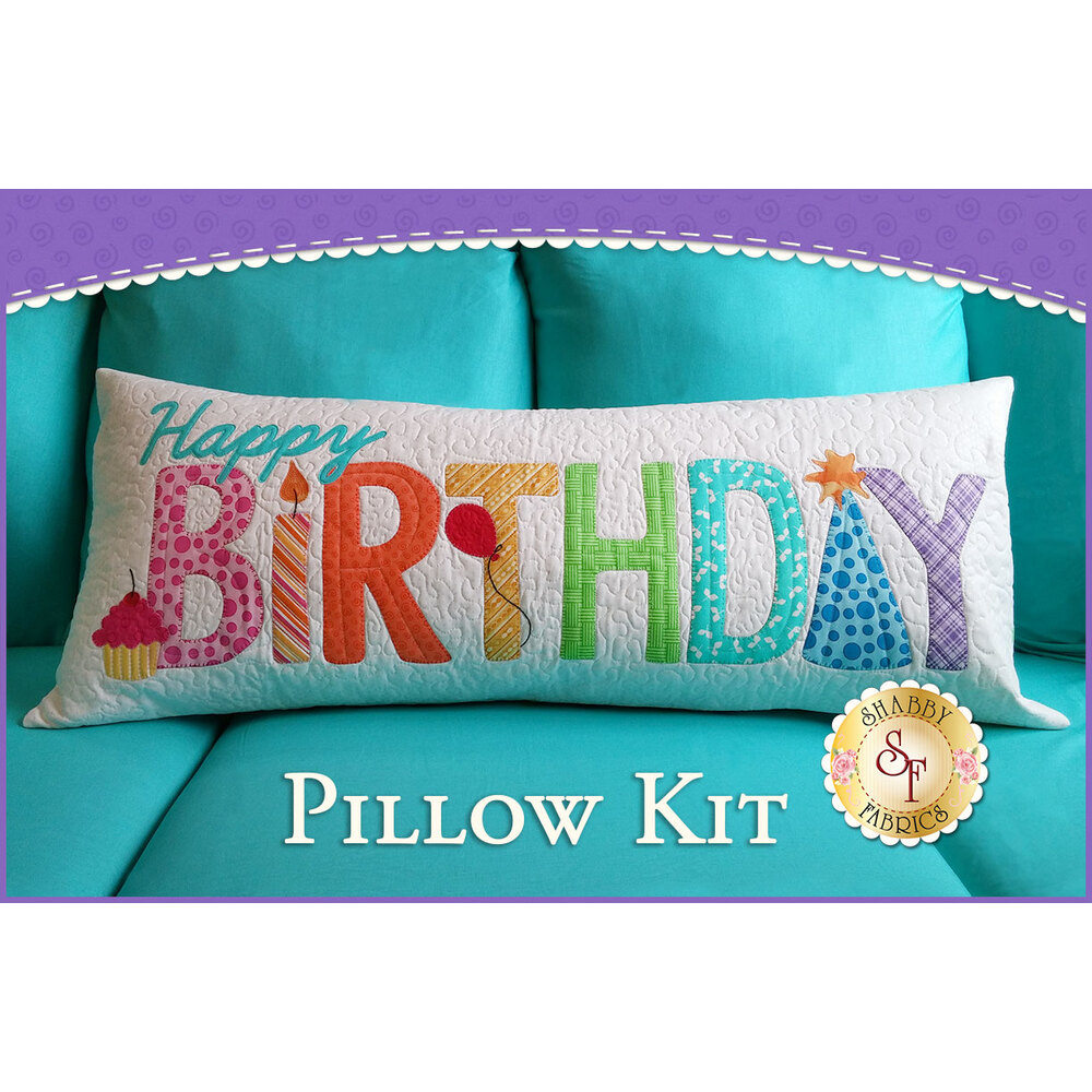 Happy Birthday Pillow Kit - Original - Laser-Cut