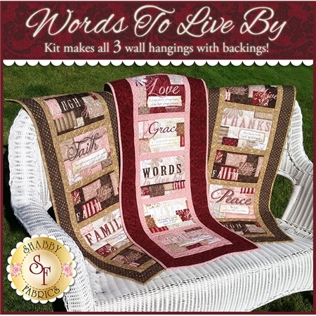 Words to Live By Quilt Kit - MAKES 3 WALL HANGINGS!