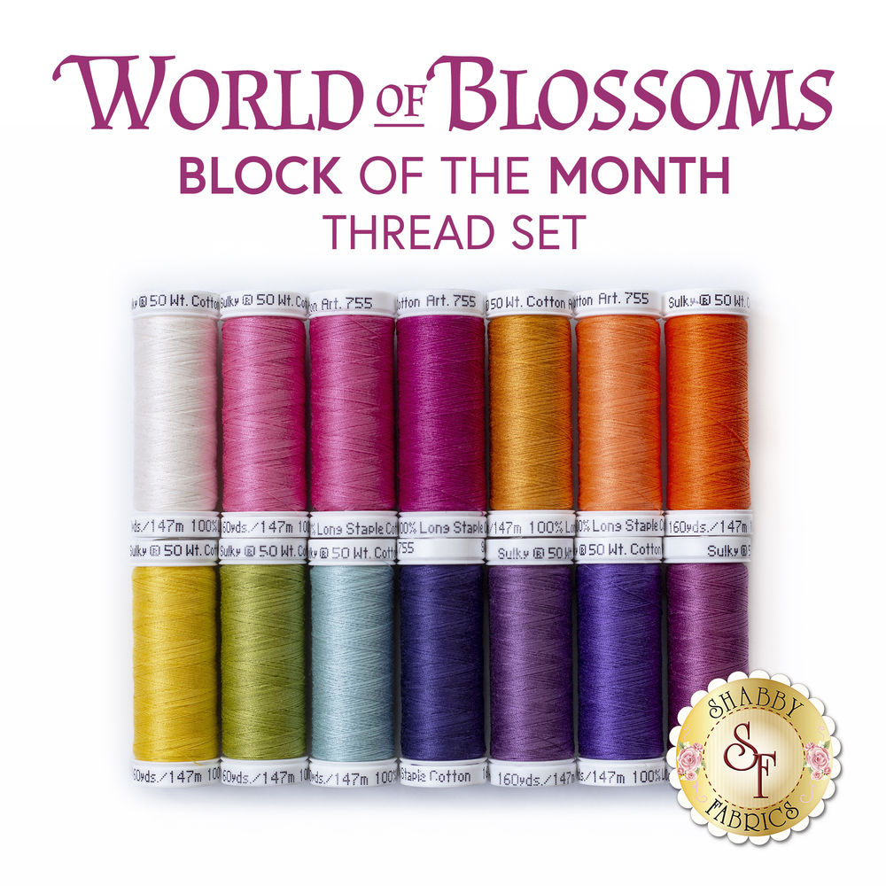 World of Blossoms BOM - 14pc Sulky Cotton Thread Set - RESERVE