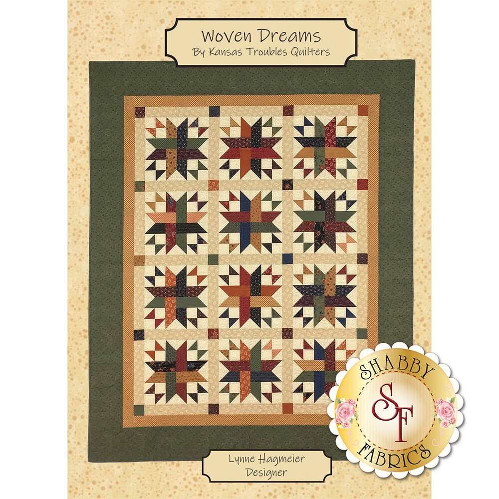 The front of the Woven Dreams pattern showing the quilt design | Shabby Fabrics