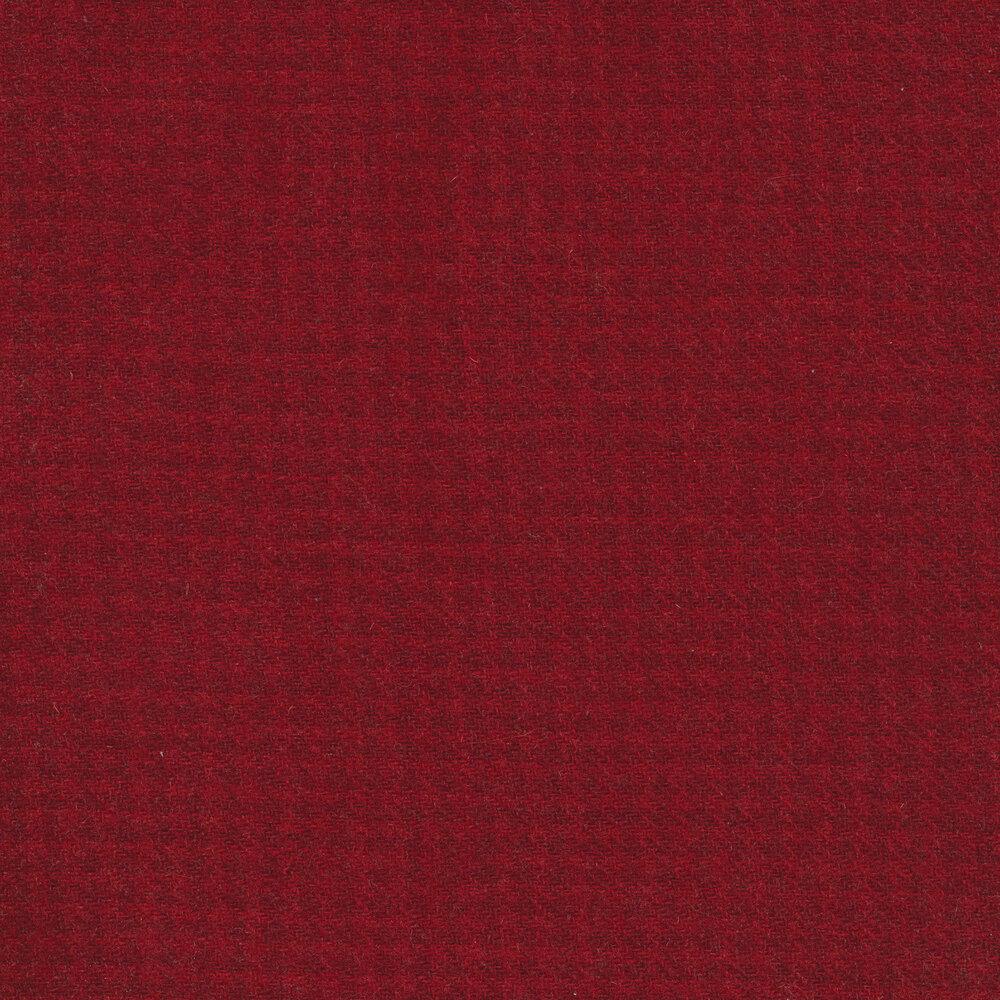 Tonal red houndstooth wool | Shabby Fabrics