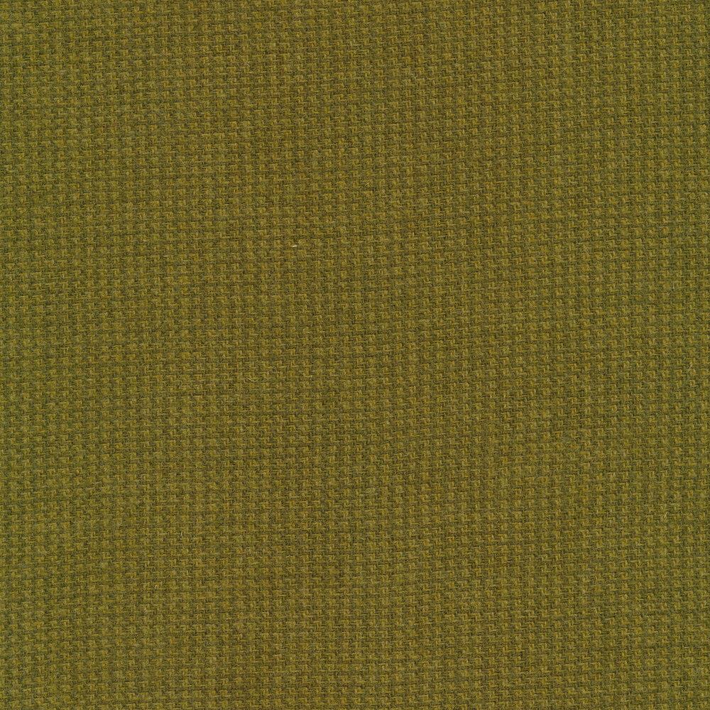 Tonal green checker print wool | Shabby Fabrics