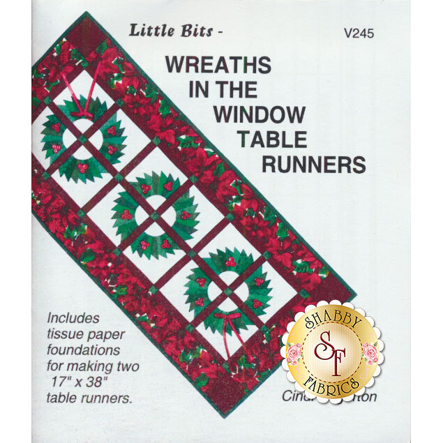 Wreaths In The Window Table Runners Pattern