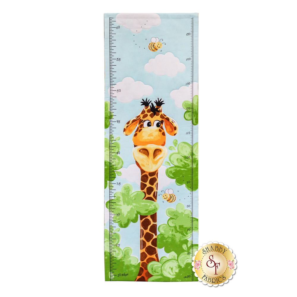 Zoe The Giraffe 20256-930 Growth Chart Panel by Hamil Textiles