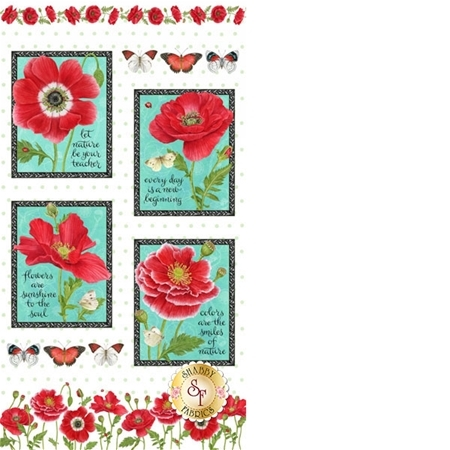 Poppy Perfection 1195P-8 by Henry Glass Fabrics