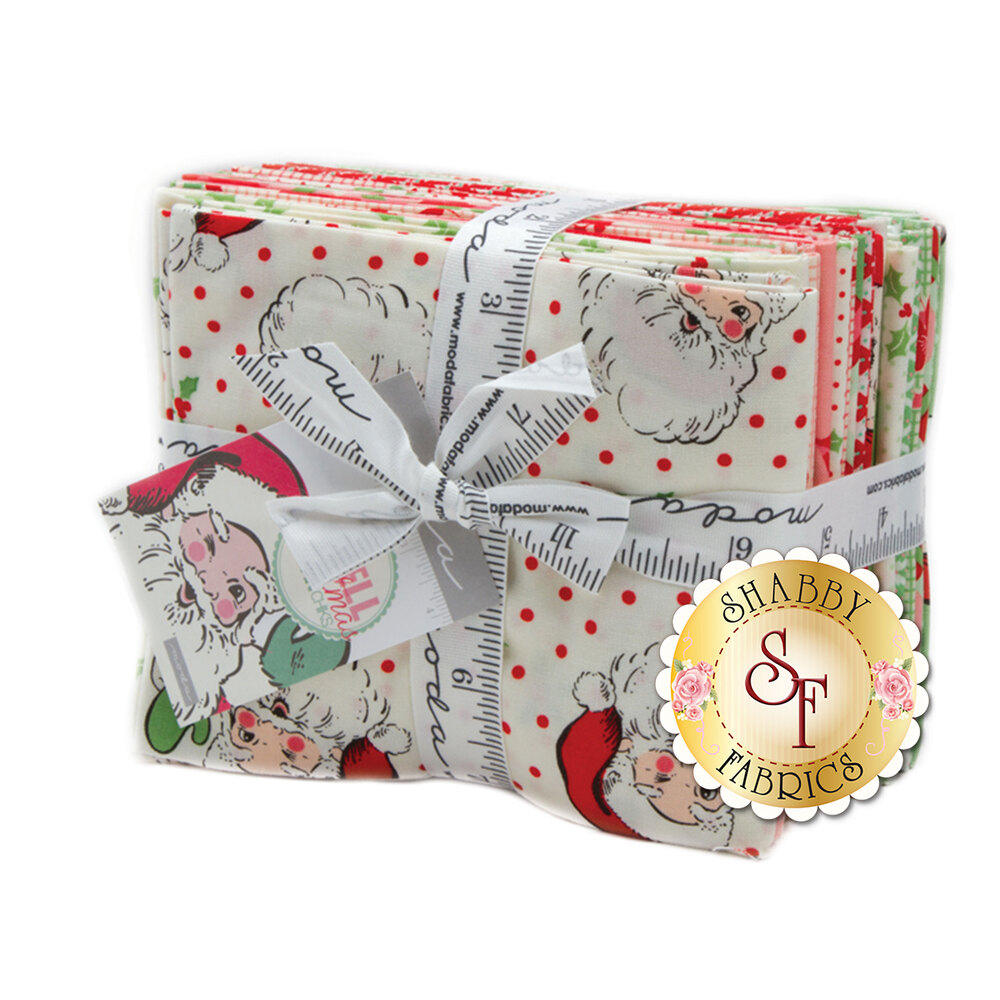 Collage of fabrics in Swell Christmas collection | Shabby Fabrics
