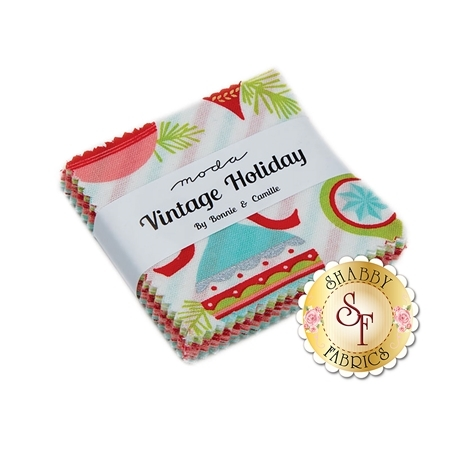 Vintage Holiday  Mini Charm Pack by Bonnie & Camille for Moda Fabrics