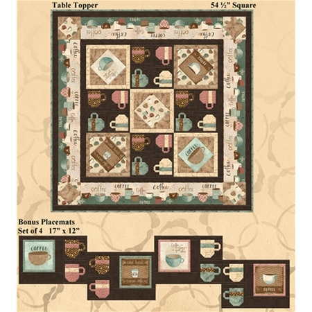 But First, Coffee Placemats & Table Topper Kit