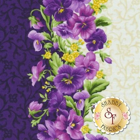 Emma's Garden 9170-V Picked Pansies by Debbie Beaves for Maywood Studio