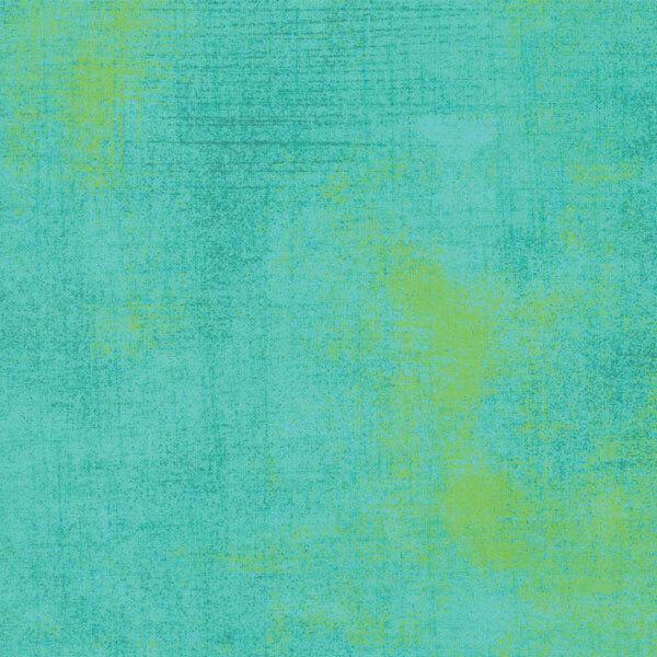 Aqua grunge textured fabric | Shabby Fabrics