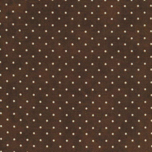 Dark brown fabric with small white dots