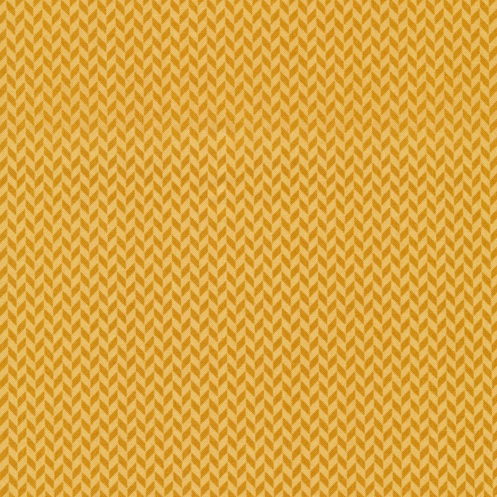 Tonal orange herringbone design | Shabby Fabrics