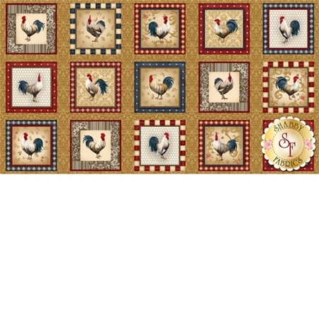Rooster Inn 112-31211 Panel by Paintbrush Studio for Fabri-Quilt Fabrics