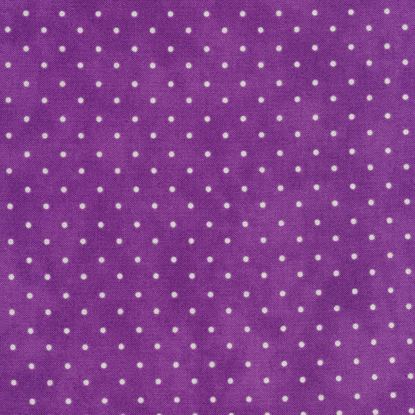 Small white polka dots on a mottled purple background