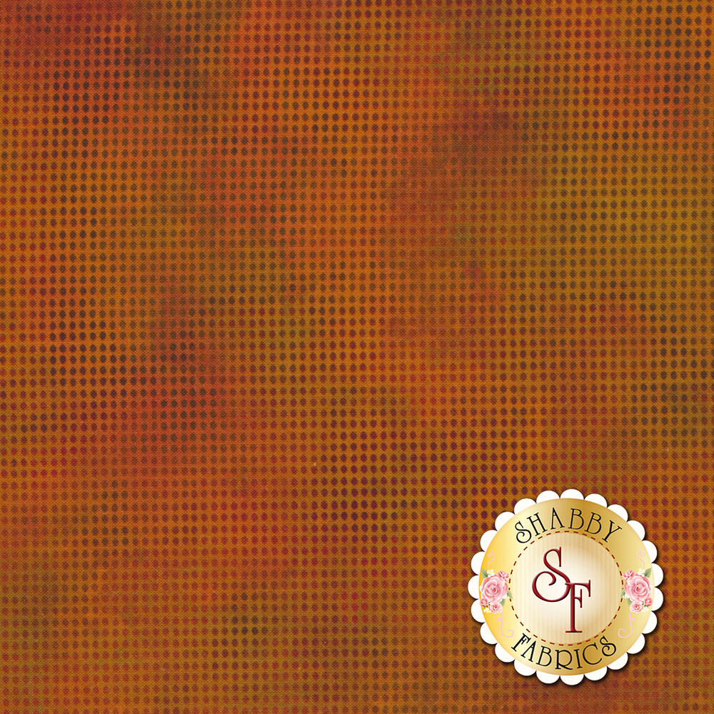 Dit Dot Evolution 1DDE-14 Pumpkin by In The Beginning Fabrics available at Shabby Fabrics
