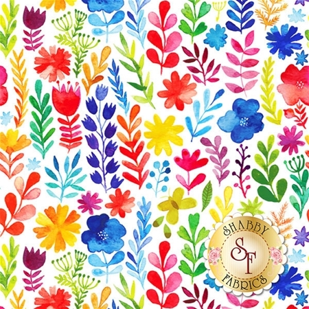 Floral Menagerie 1FMB1 by Gray Sky Studio for In The Beginning Fabrics