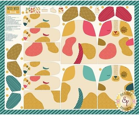 Woof Woof Meow 20560-11 Dog Panel Multi by Stacy Iset Hsu for Moda Fabrics