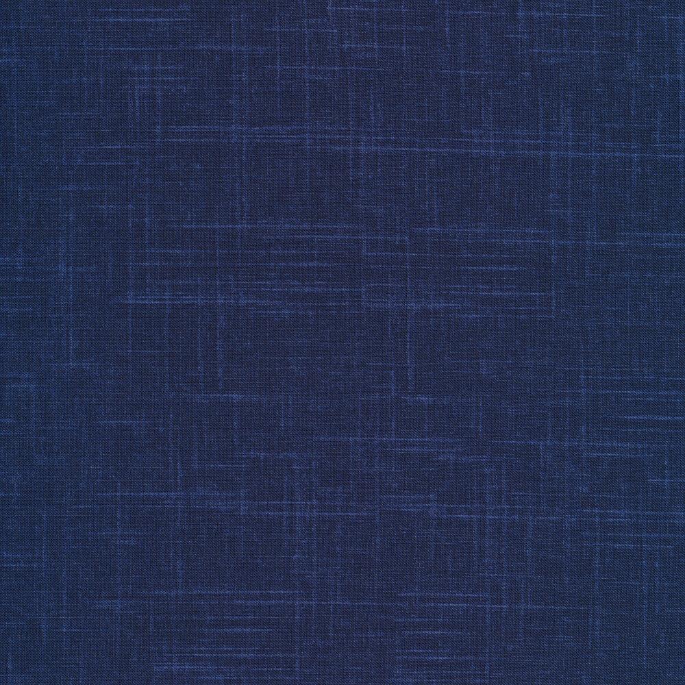 Tonal dark blue textured fabric | Shabby Fabrics