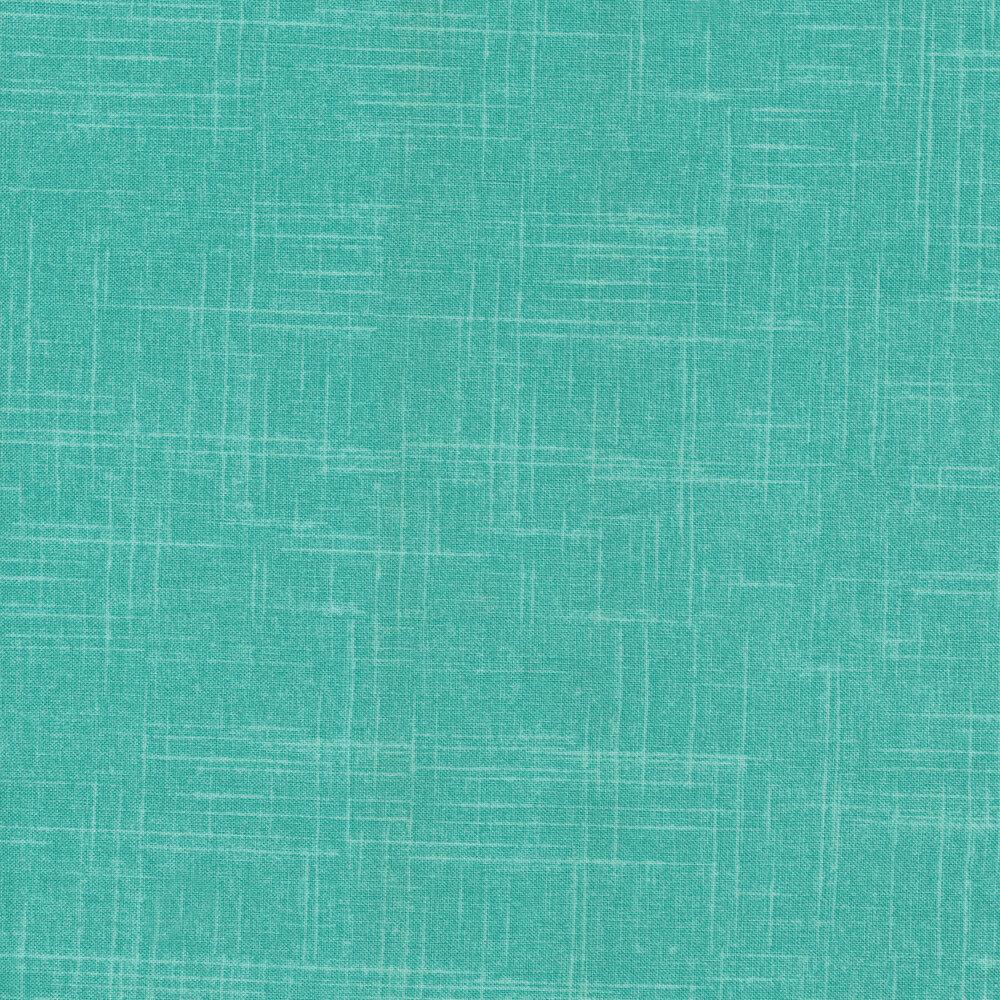 Tonal aqua textured fabric   Shabby Fabrics