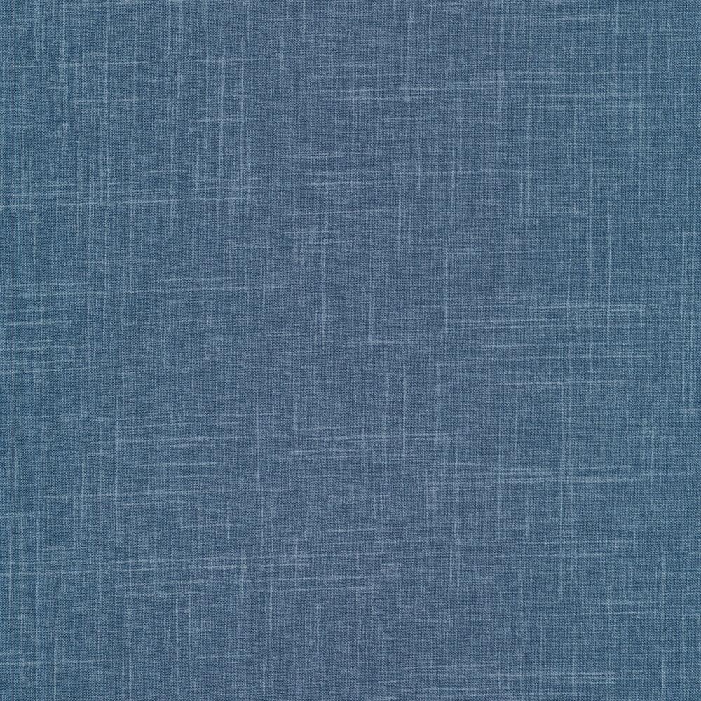 Tonal denim blue textured fabric | Shabby Fabrics