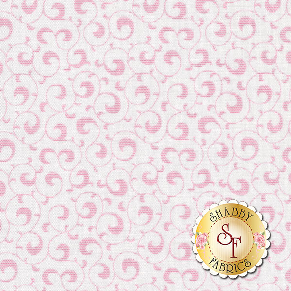 Light pink swirls on a white background