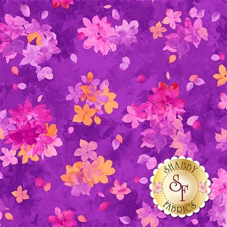 Soiree 26272-V Purple by Studio 8 for Quilting Treasures