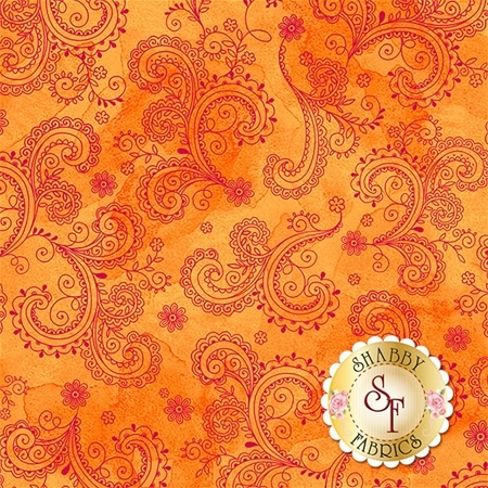 Soiree 26273-O Orange by Studio 8 for Quilting Treasures