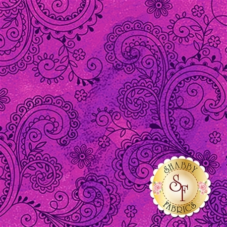 Soiree 26273-V Purple by Studio 8 for Quilting Treasures