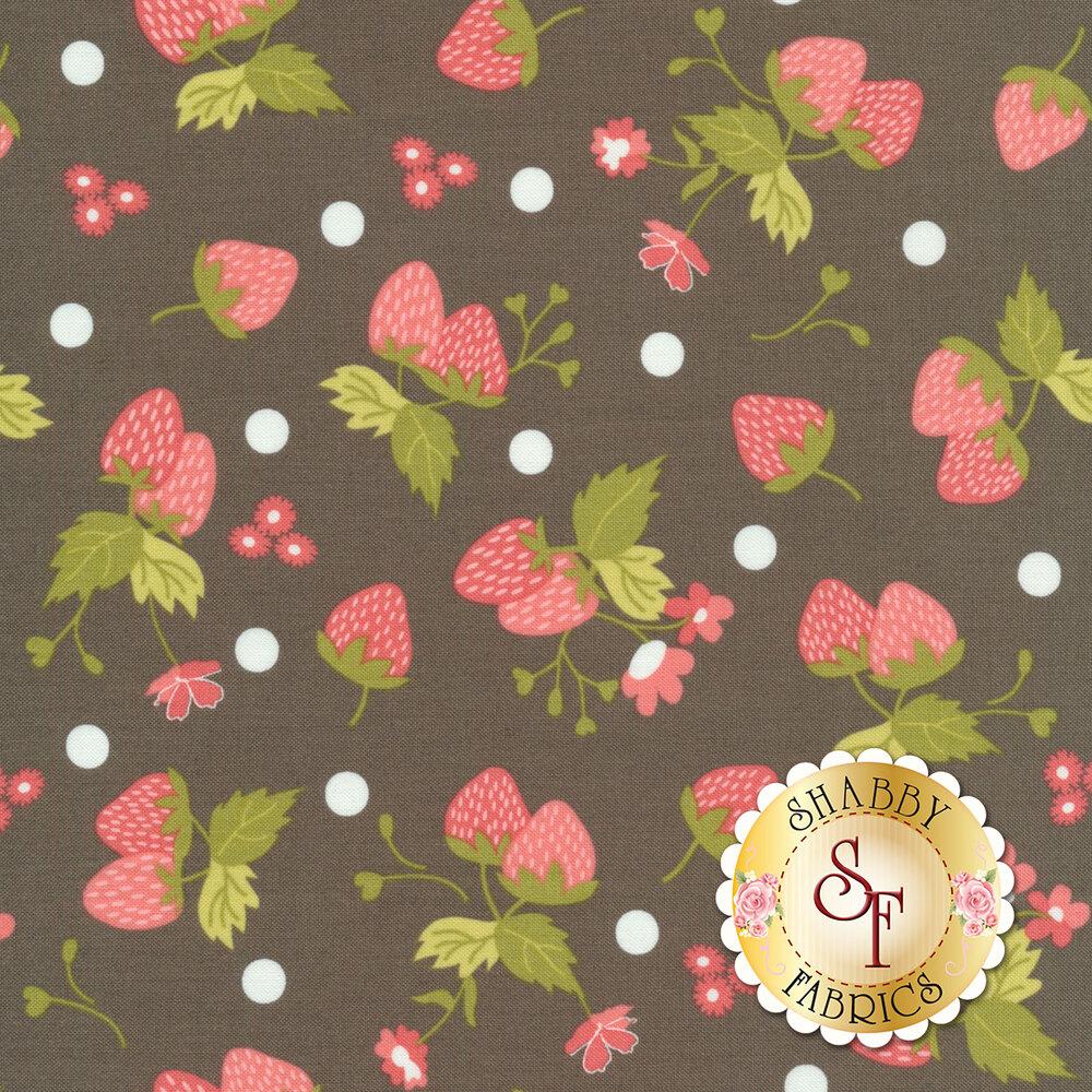 Strawberry Jam 29062-12 Polka Dot Grey by Moda Fabrics available at Shabby Fabrics