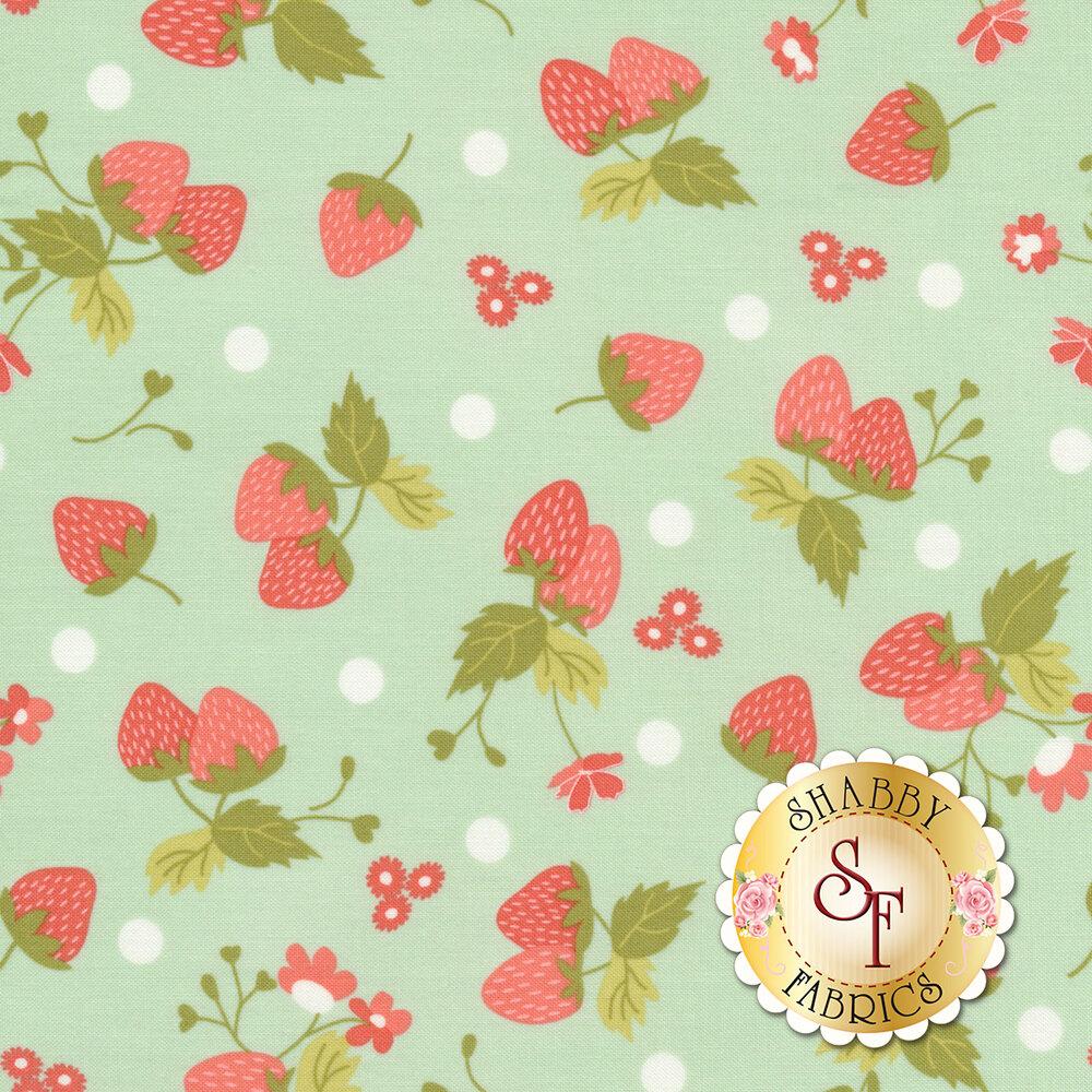 Strawberry Jam 29062-12 Polka Dot Aqua by Moda Fabrics available at Shabby Fabrics