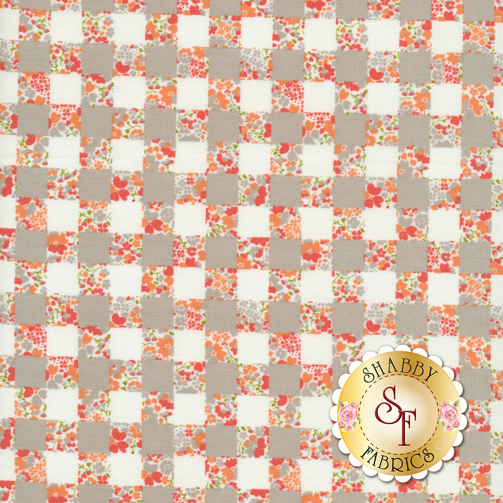 Strawberry Jam 29063-13 Gingham Garden Gray by Moda Fabrics available at Shabby Fabrics