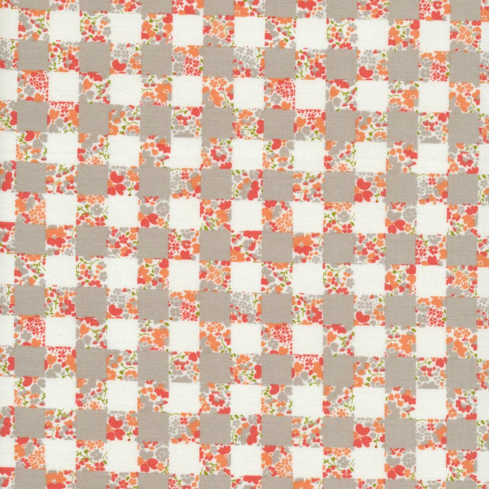 Strawberry Jam 29063-13 Gingham Garden Gray by Moda Fabrics available at Shabby Fabrics