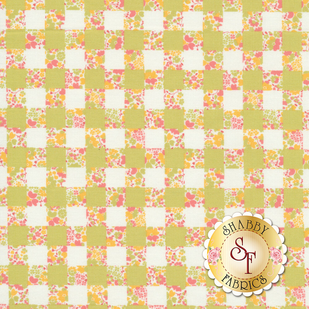 Strawberry Jam 29063-17 Gingham Garden Yellow by Moda Fabrics available at Shabby Fabrics