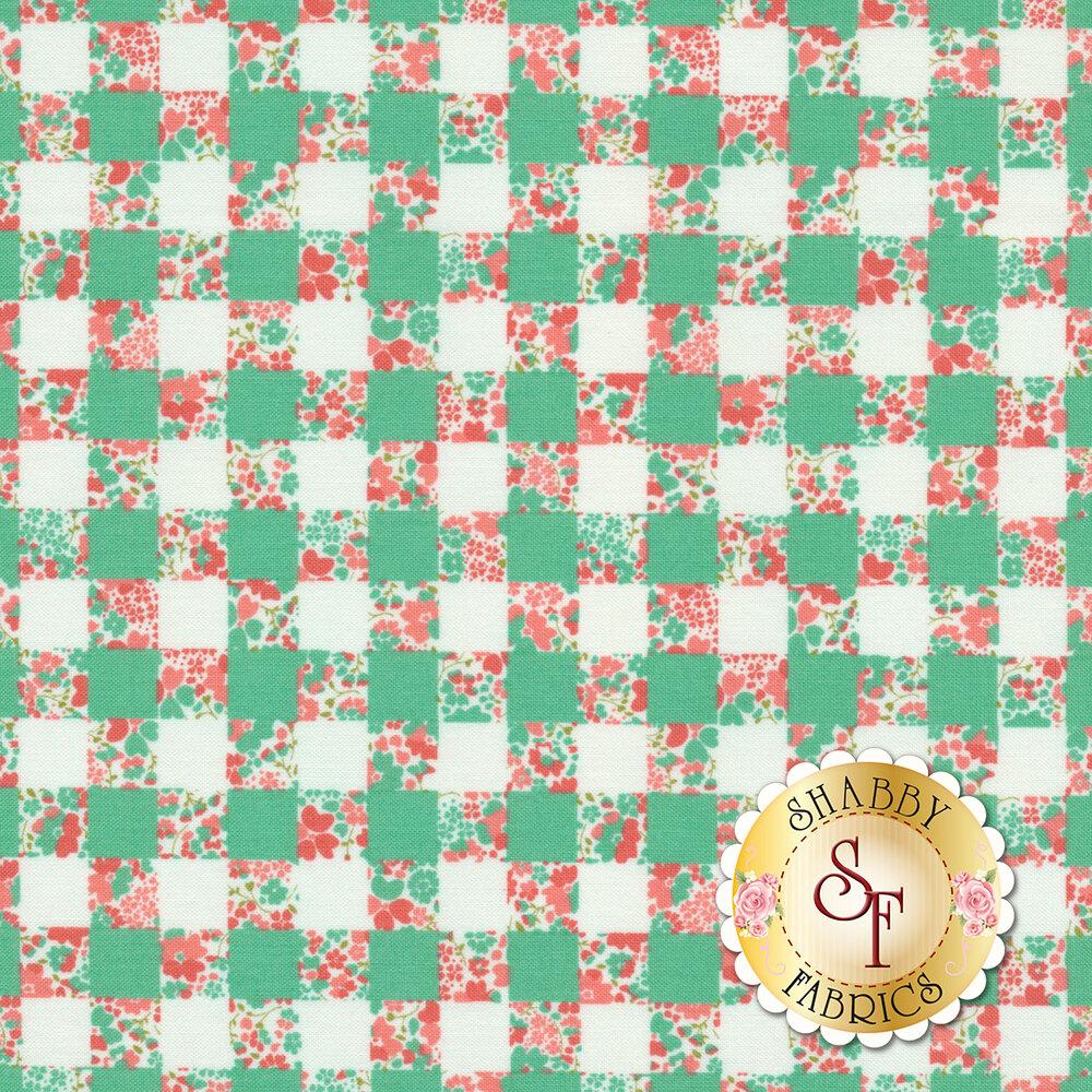 Strawberry Jam 29063-18 Gingham Garden Turquoise by Moda Fabrics available at Shabby Fabrics