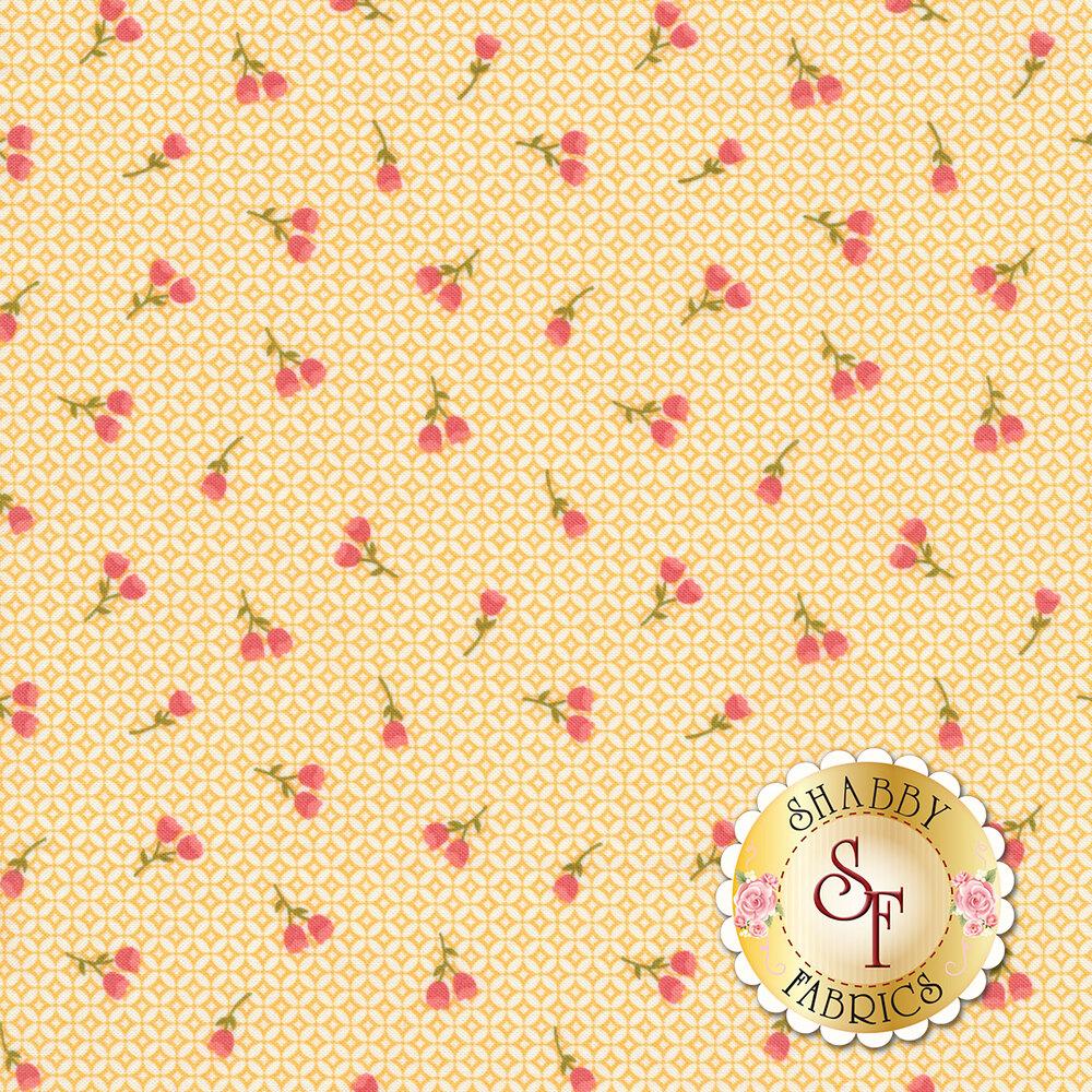 Strawberry Jam 29064-14 Canning Day Yellow by Moda Fabrics available at Shabby Fabrics