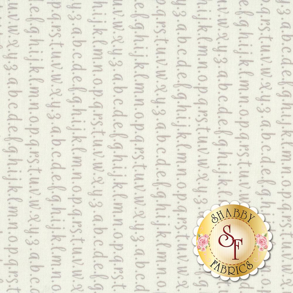 Strawberry Jam 29065-21 Alphabet White by Moda Fabrics available at Shabby Fabrics