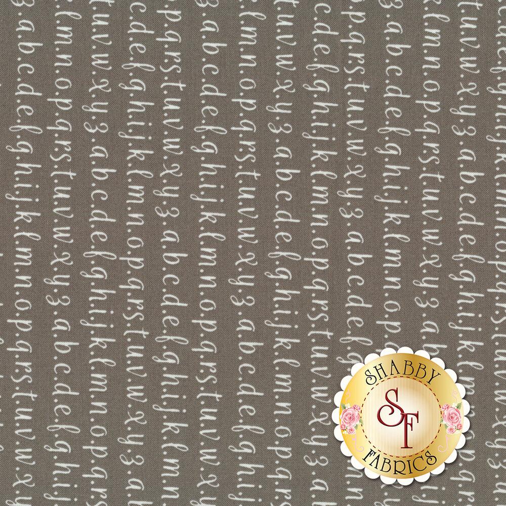 Strawberry Jam 29065-22 Alphabet Gray by Moda Fabrics available at Shabby Fabrics