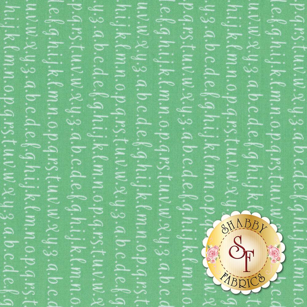 Strawberry Jam 29065-28 Alphabet Aqua by Moda Fabrics available at Shabby Fabrics