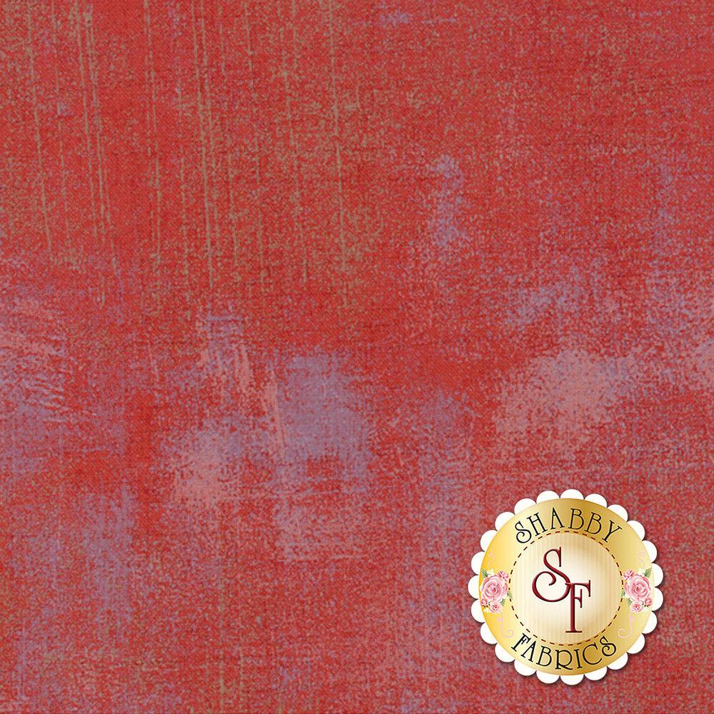 Red with light purple areas grunge textured fabric   Shabby Fabrics