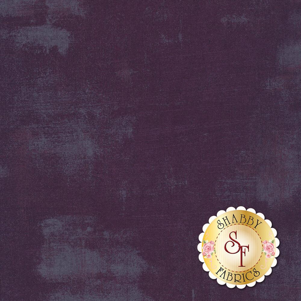 Dark purple grunge textured fabric | Shabby Fabrics