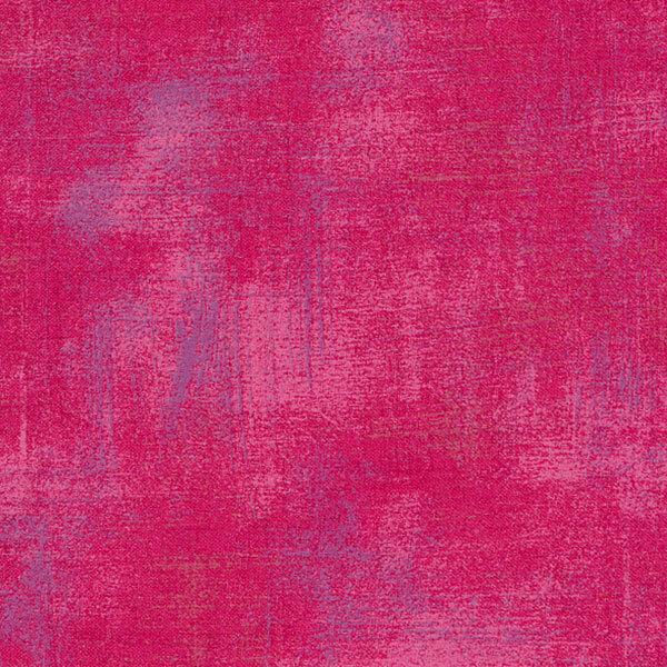 Bright red grunge textured fabric | Shabby Fabrics