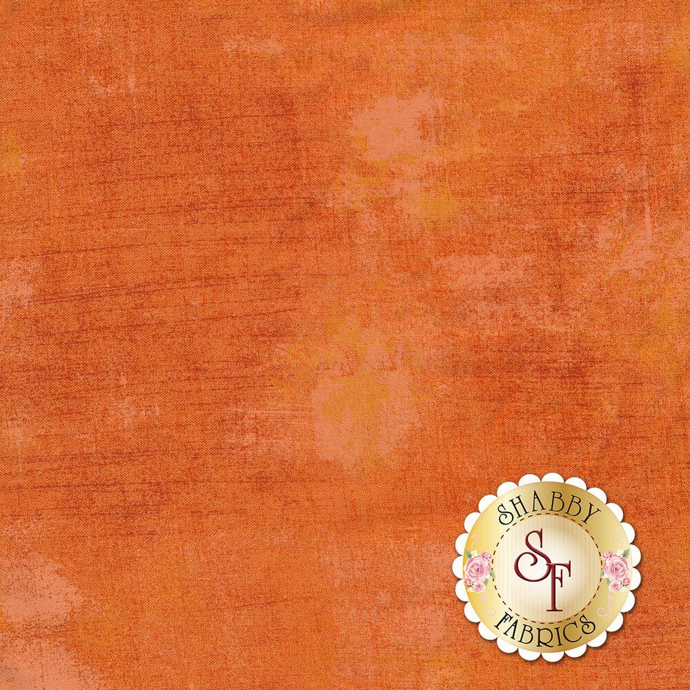 Mottled orange grunge textured fabric | Shabby Fabrics