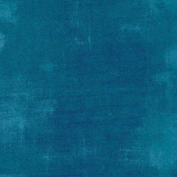 Mottled dark teal grunge textured fabric | Shabby Fabrics