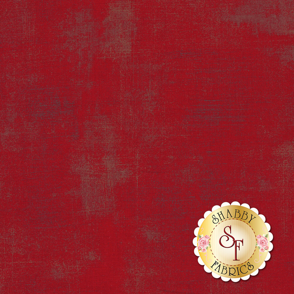 Dark red grunge textured fabric | Shabby Fabrics