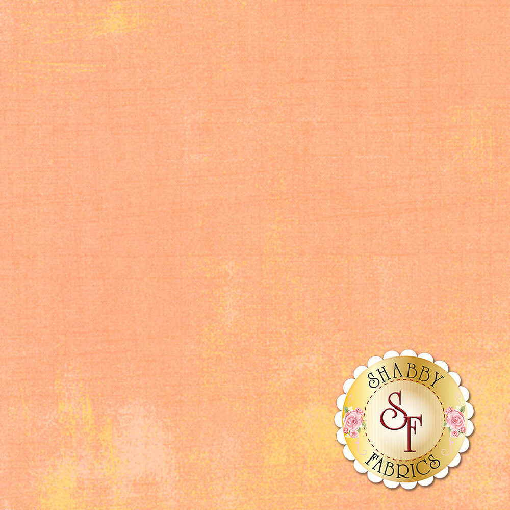 Light peach grunge textured fabric | Shabby Fabrics